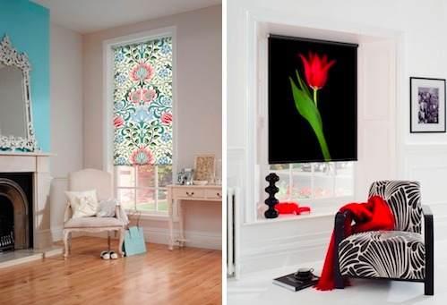 cortinas roller dibujos flores