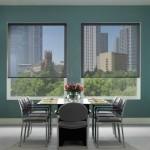 cortinas roller screen comedor azul marino