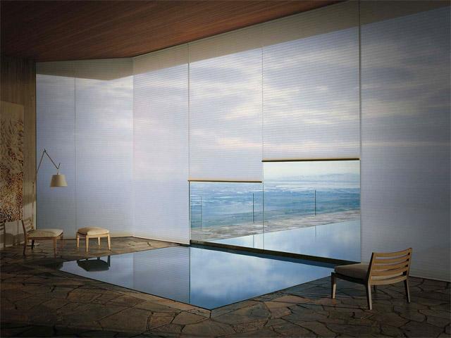 Cortinas sunscreen ventana al mar