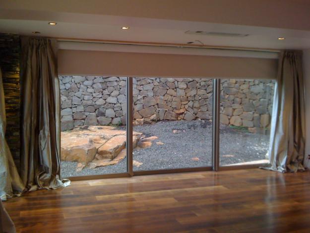 cortinas dobles ventanal